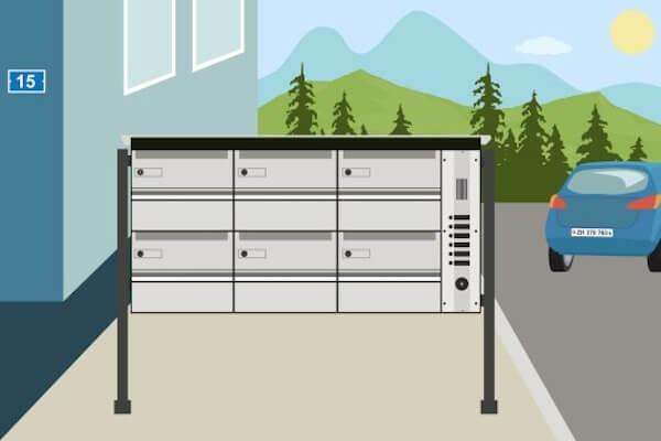 Briefkasten: Ein Nachsendeauftrag erleichtert die Zeit nach dem Umzug