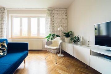 Ein eingerichtetes Wohnzimmer