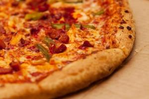 Umzugsessen Pizza