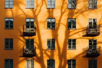 Orange Hausfassade