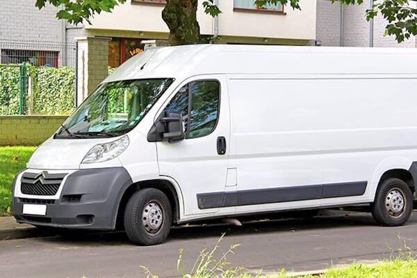 Lieferwagen für den Umzug