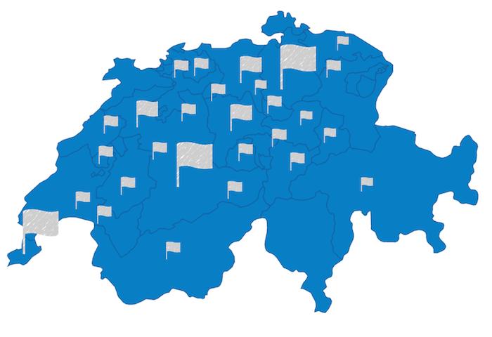 Standorte der Umzugsfirmen in der Schweiz