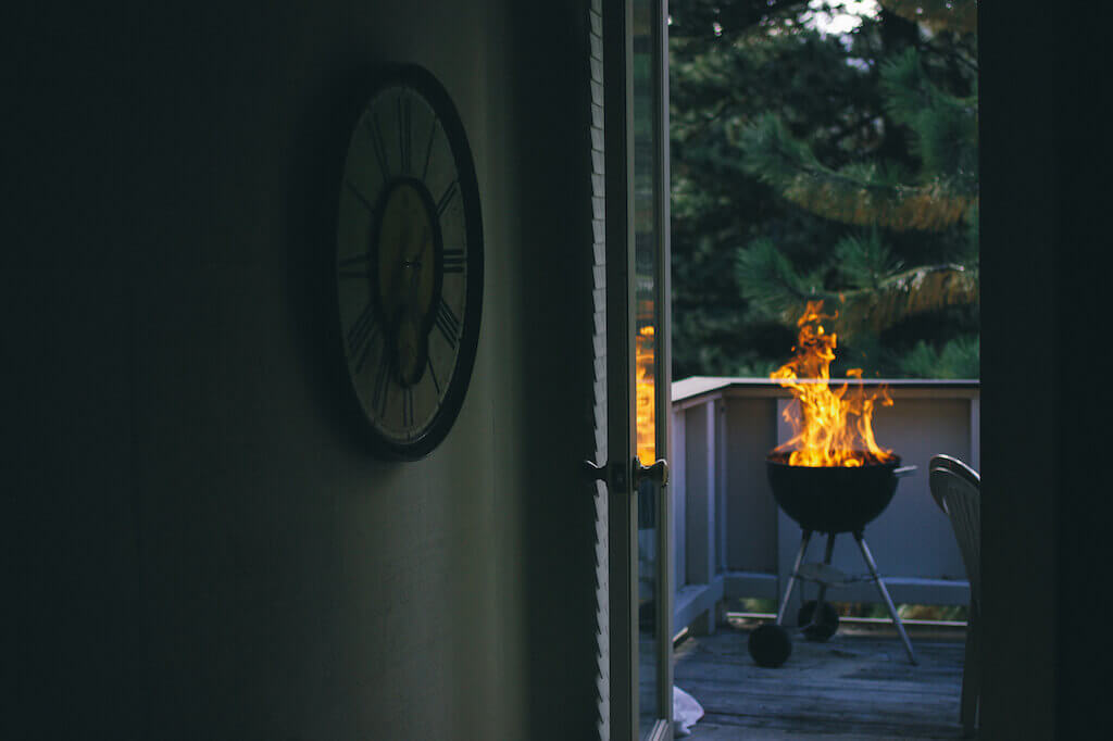 Feuer als Sommerdekoration