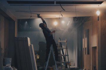 Bauarbeiter bei einem Umbau