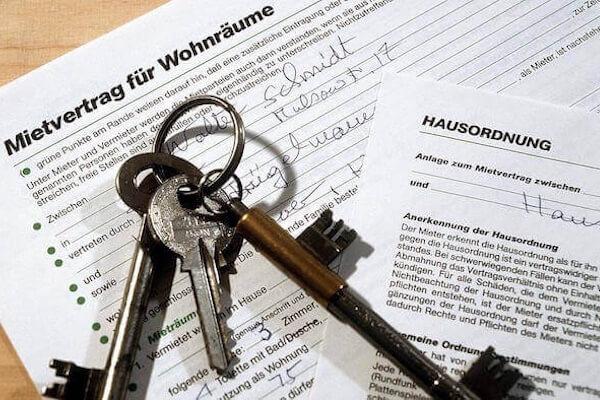 Contrat de location et des clés
