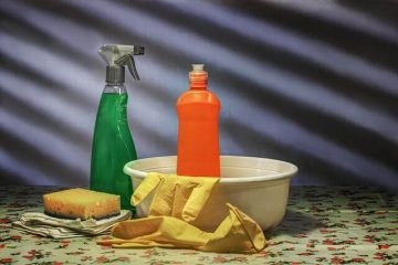 Cleaning utensils to clean your apartment.