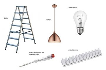 Werkzeug für das Lampen montieren