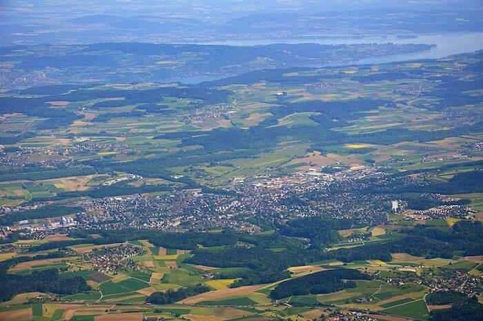 Luftbild von Frauenfeld