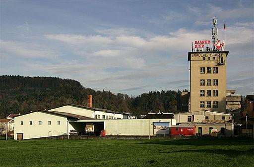Sicht auf eine Brauerei in Baar (ZG).