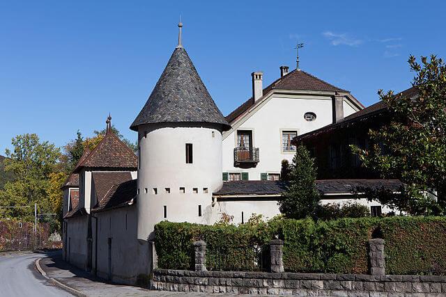 Das Dufey-Haus in Monthey im Wallis. Dabei handelt es sich um ein Kulturgut.