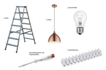 Outils pour le montage des lampes.