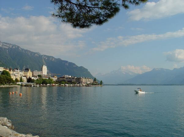 View of the lake of Montreux.