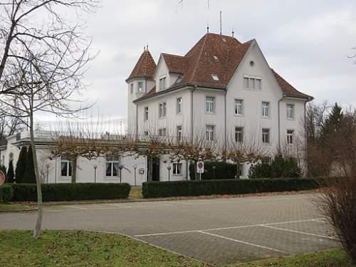 Blick auf die Kantine der Kaserne in Kloten Zürich.